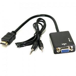מתאם HDMI to VGA + סאונד