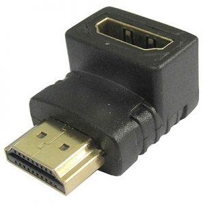 מתאם HDMI זכר ל-HDMI נקבה בזווית 90 מעלות