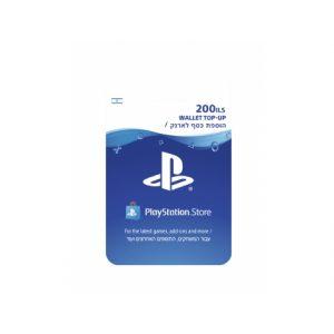 """גיפט קארד PSN ILS PS4 200 ש""""ח"""
