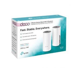 מגדיל טווח Deco E4 Mesh AC1200Mbps שתי יחידות