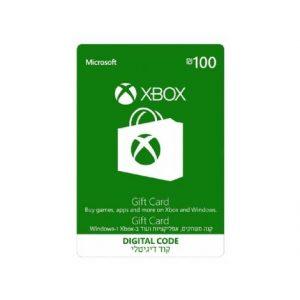 """שובר דיגיטלי 100 ש""""ח Xbox Gift Card"""