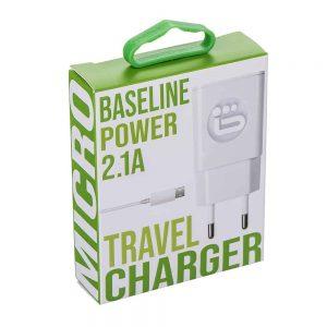 מטען ביתי BASELINE Micro USB 2A