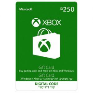 """גיפט קארד 250 ש""""ח Xbox"""