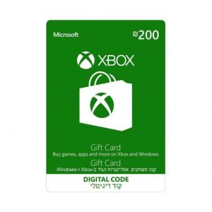 """גיפט קארד 200 ש""""ח Xbox"""