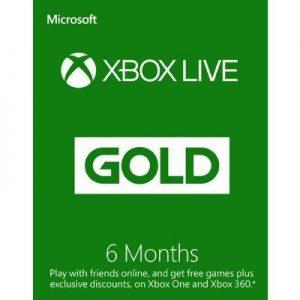 קוד דיגיטלי Xbox Live Gold ל- 6 חודשים