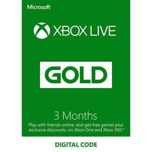 קוד דיגיטלי Xbox Live Gold ל- 3 חודשים